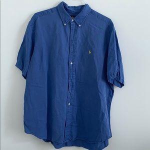 Ralph Lauren XXL short sleeve blue button down